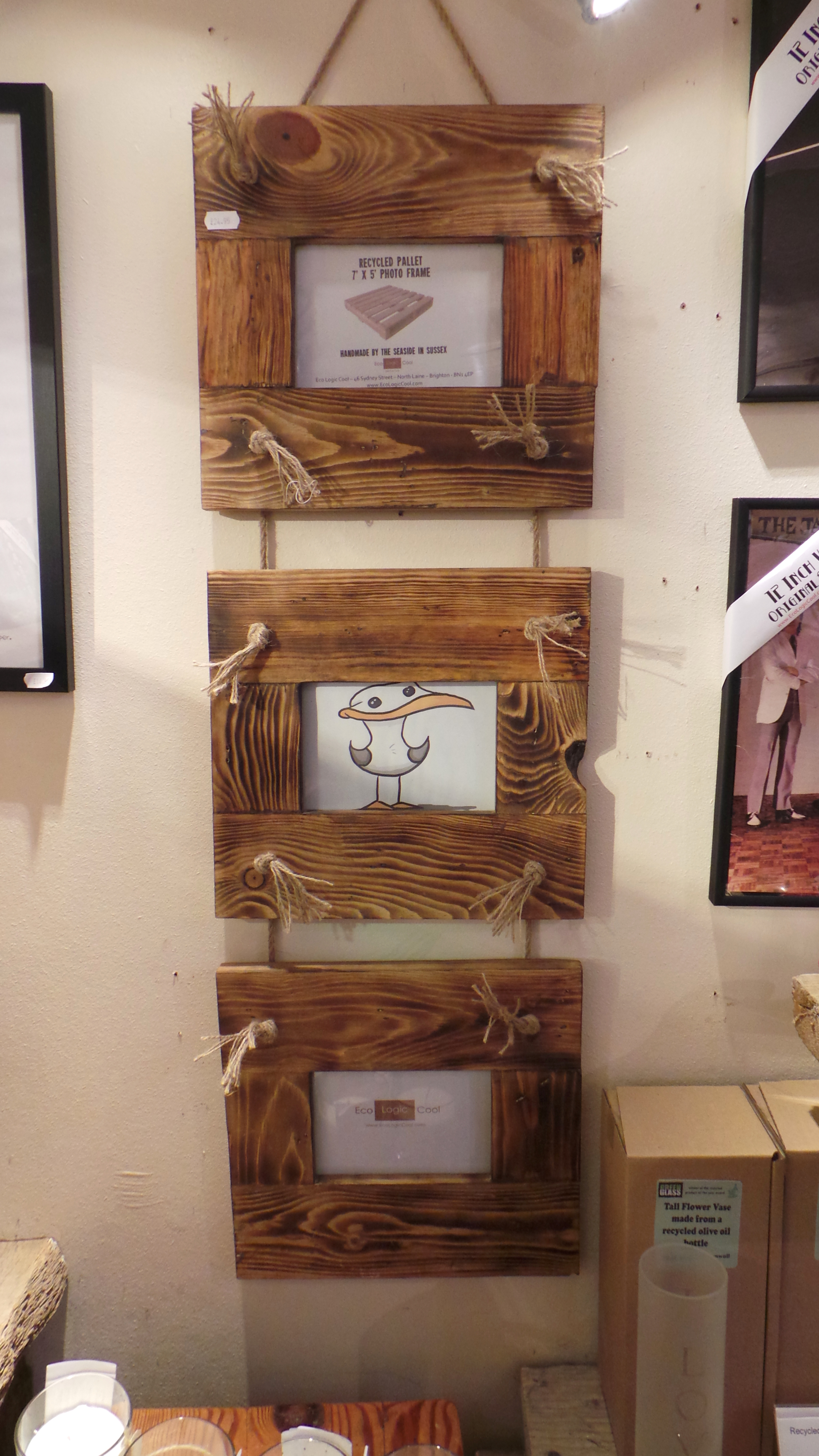 Reclaimed wood picture frames daves beach hut 6 x 4 picture frames available to order jeuxipadfo Images
