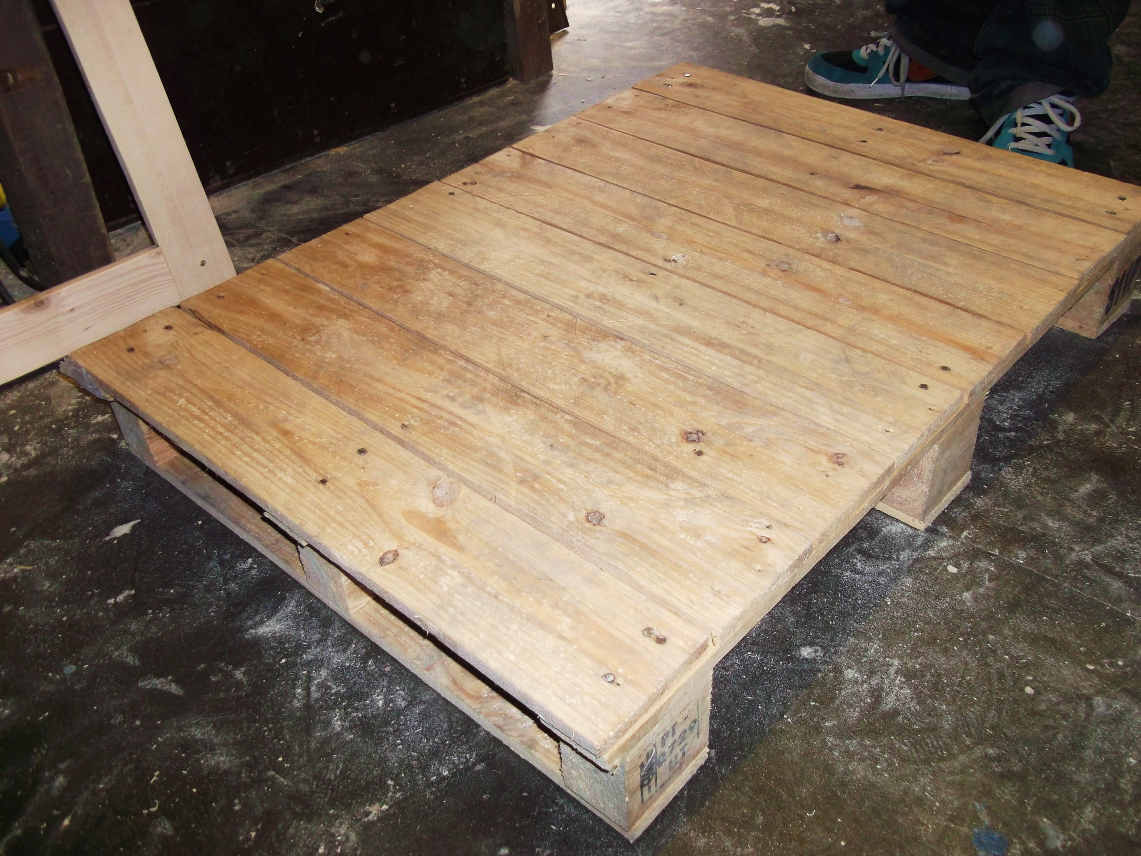 Salvaged Pallet Before Being Turned Into A Coffee Table!