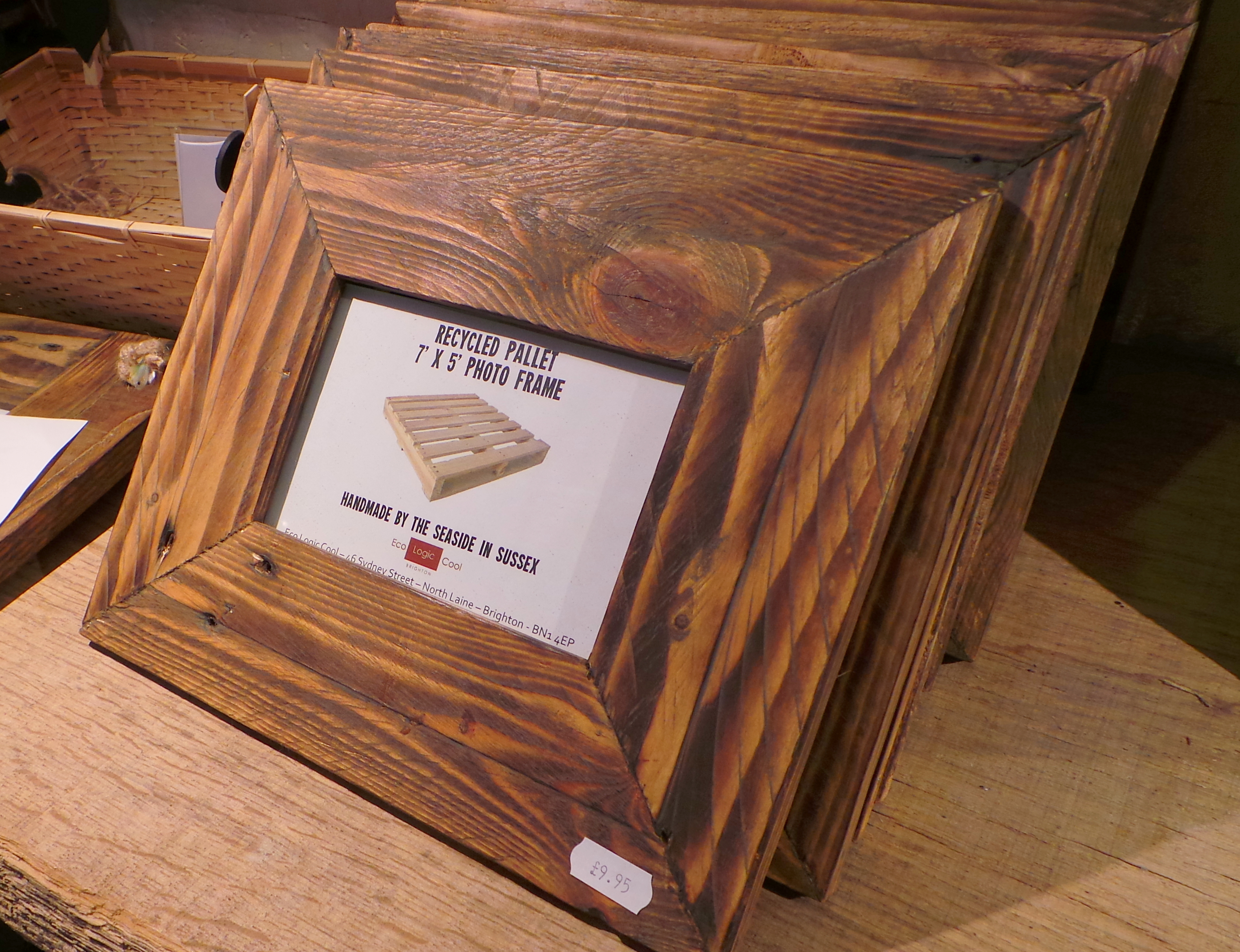Reclaimed wood picture frames daves beach hut 6 x 4 picture frames made with reclaimed timber jeuxipadfo Images
