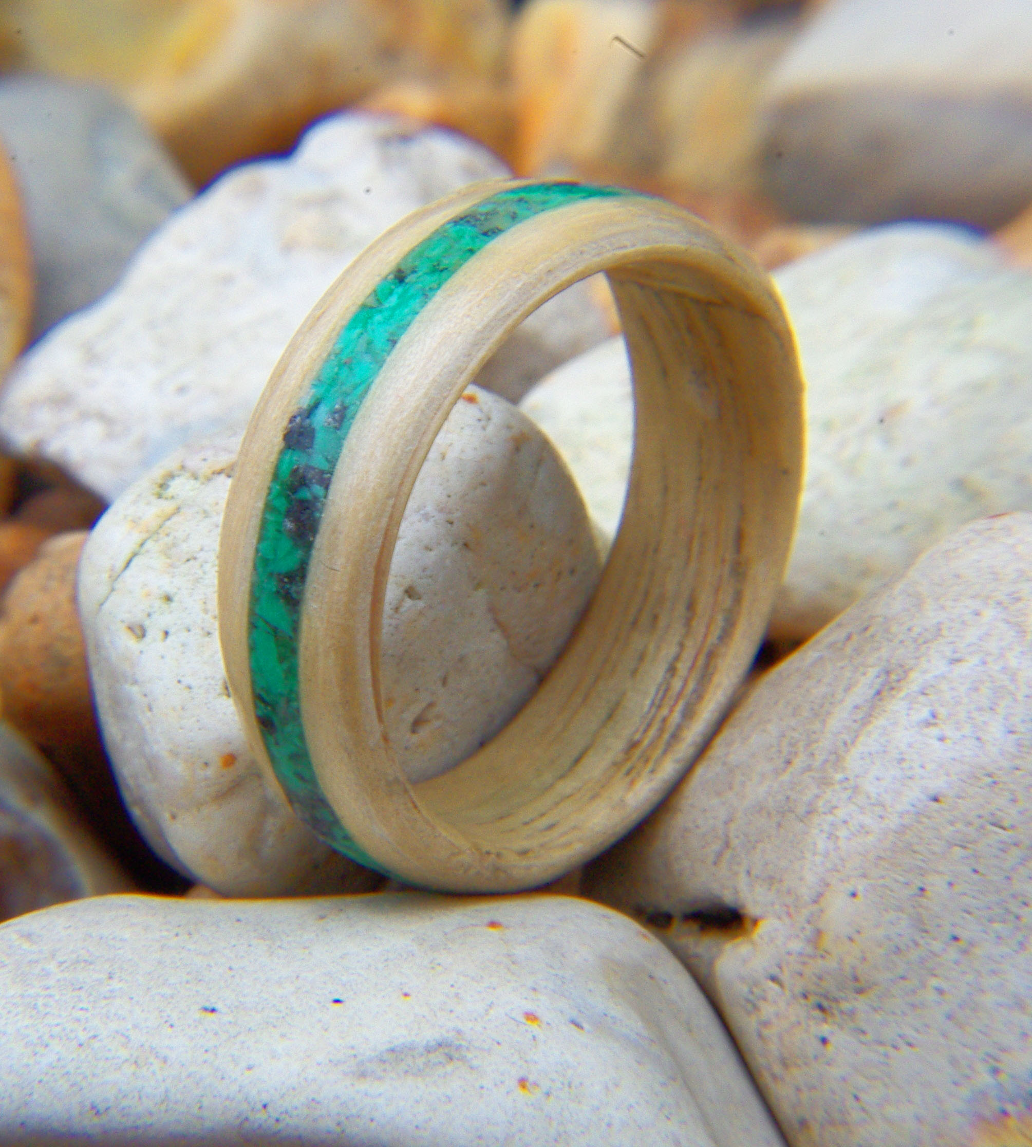 liner wooden with simply wood rings mapleliner chrysocolla inlay ring in stock maple wedding hackberry and
