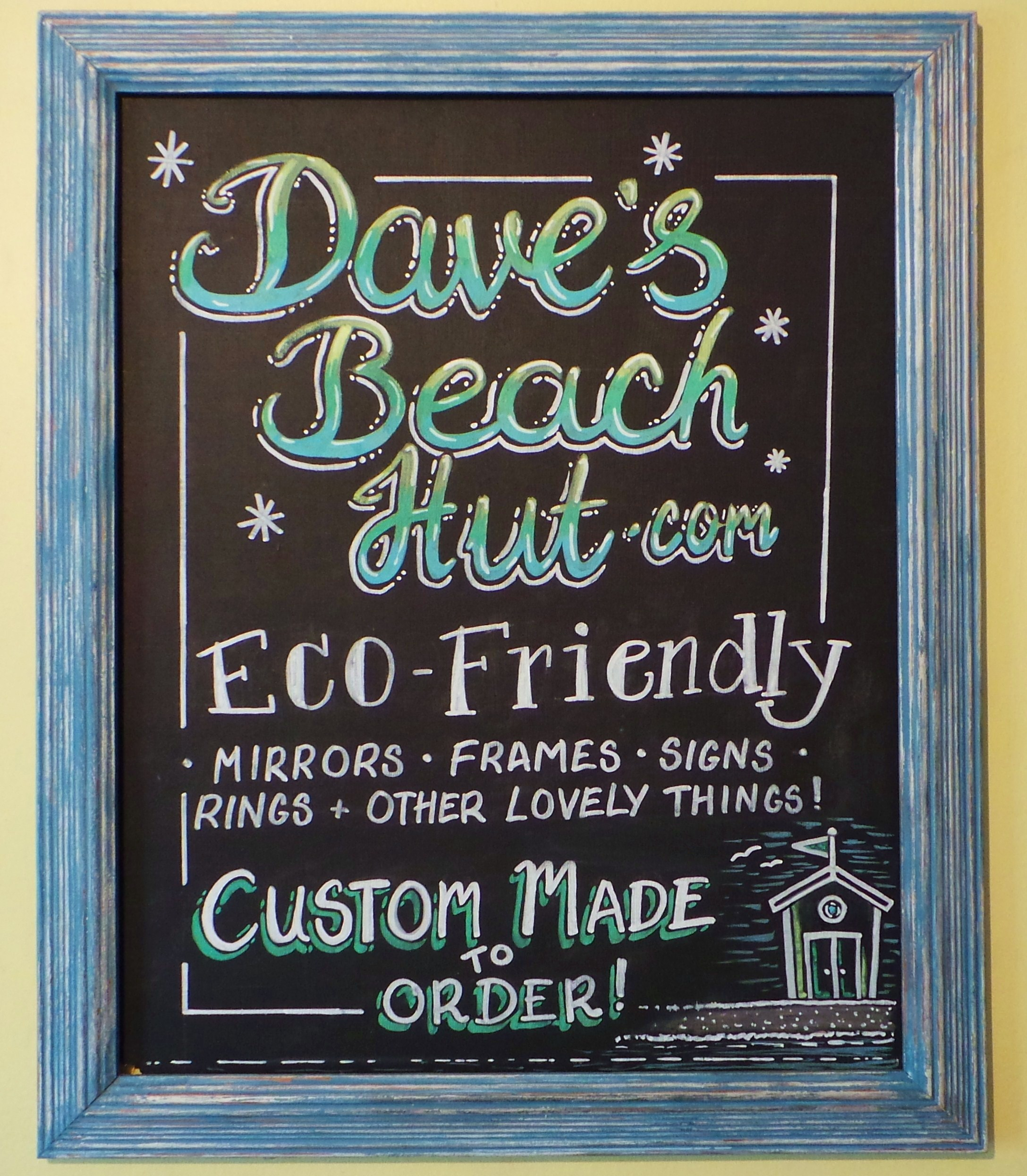 Reclaimed Wood Blackboards Amp Memoboards Dave S Beach Hut