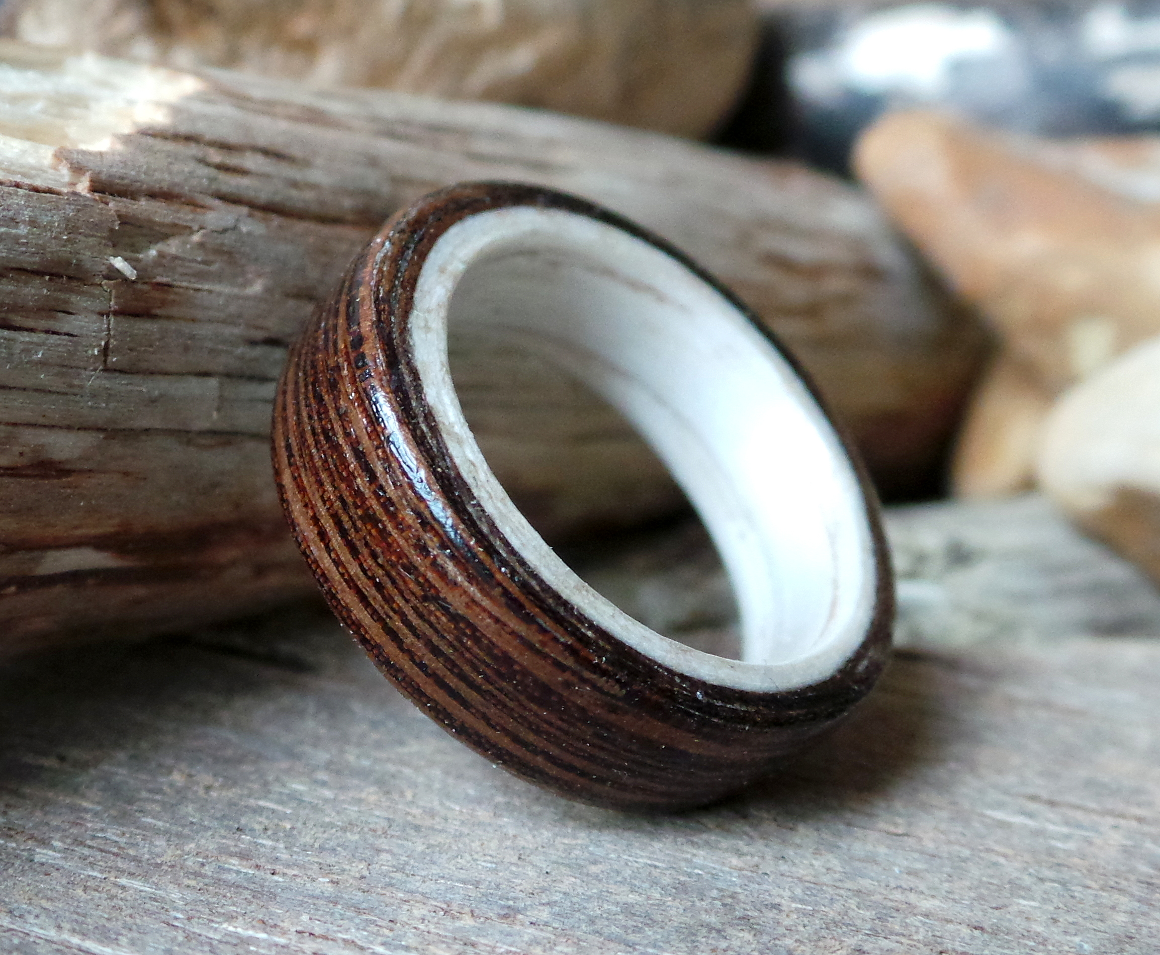 wedding rings order with img lined minute last maple titanium burl black ring ash custom wood