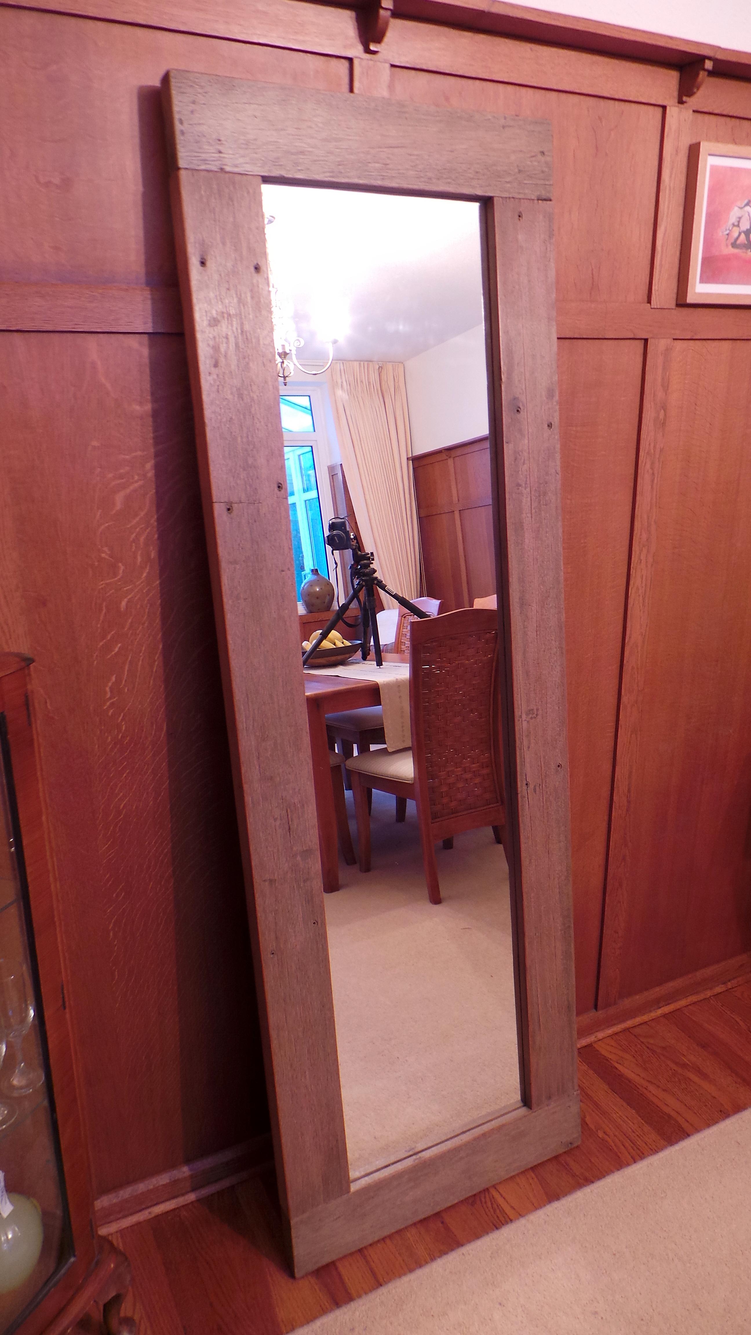 Full Length Wall Mirror Oak