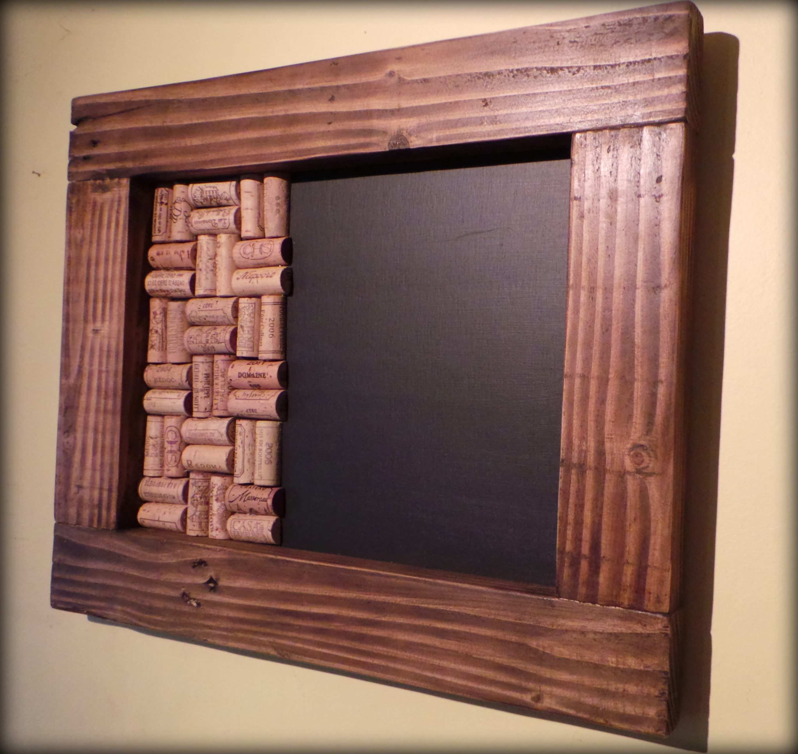 New Memo Boards Made to Order: Blackboards with Wine Cork Pin Boards ...
